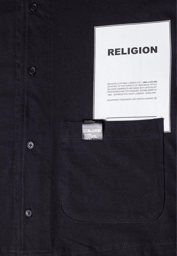 Religion - Over Lay Shirt - Black