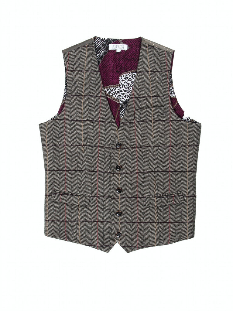 Pearly King - Static Waistcoat - Sand