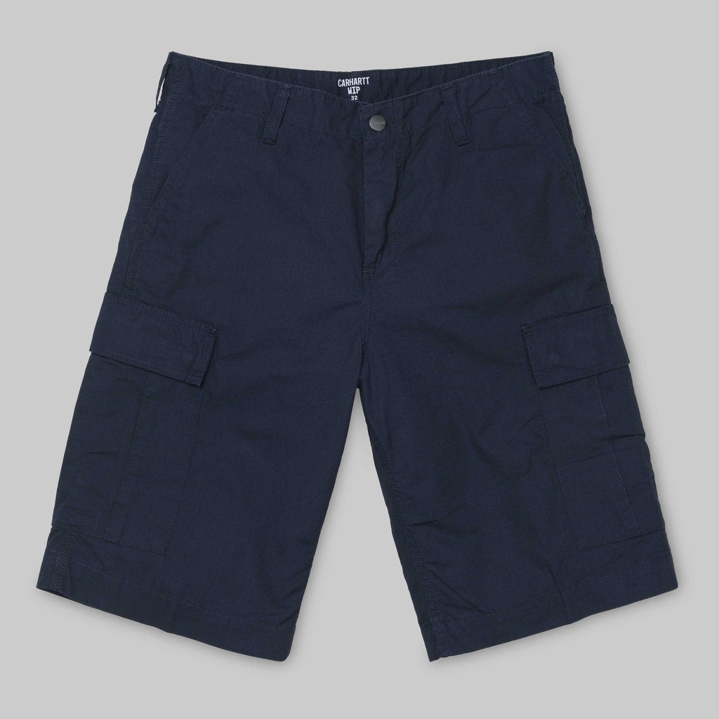 Carhartt - Regular Cargo Short - Dark Navy Rinsed