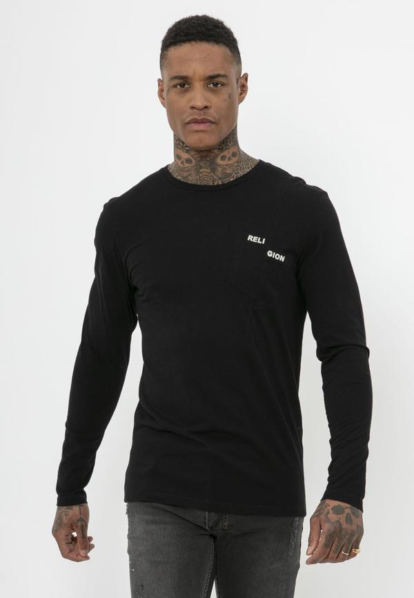 Religion - LS Pocket Tee - Black