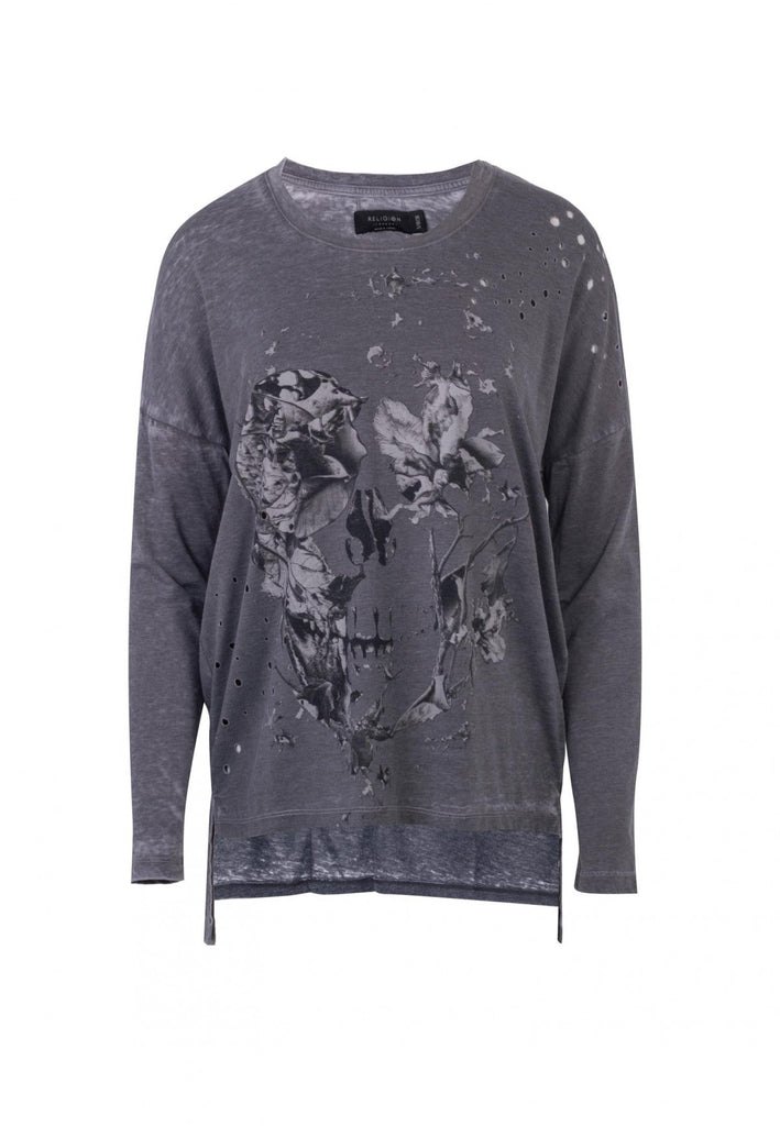 Religion - Womens Scale LS Tee - Brindle