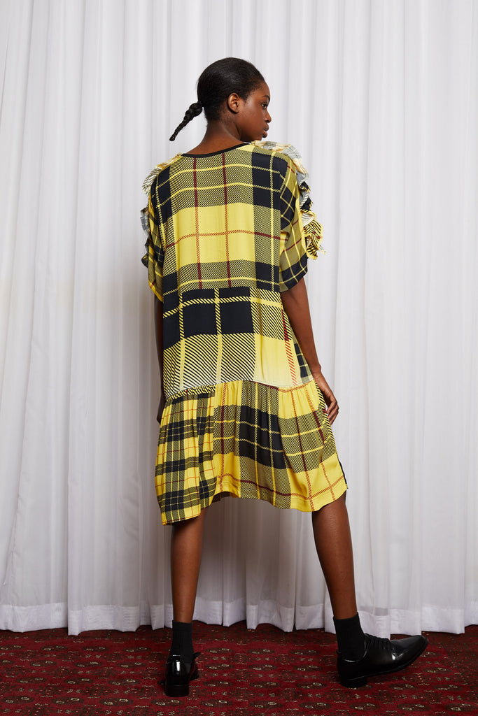 Salasai - Dreamscape T Dress - Disruption Plaid