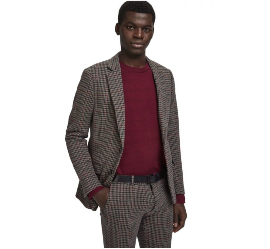 Scotch & Soda - Knitted Blazer - Multi Check