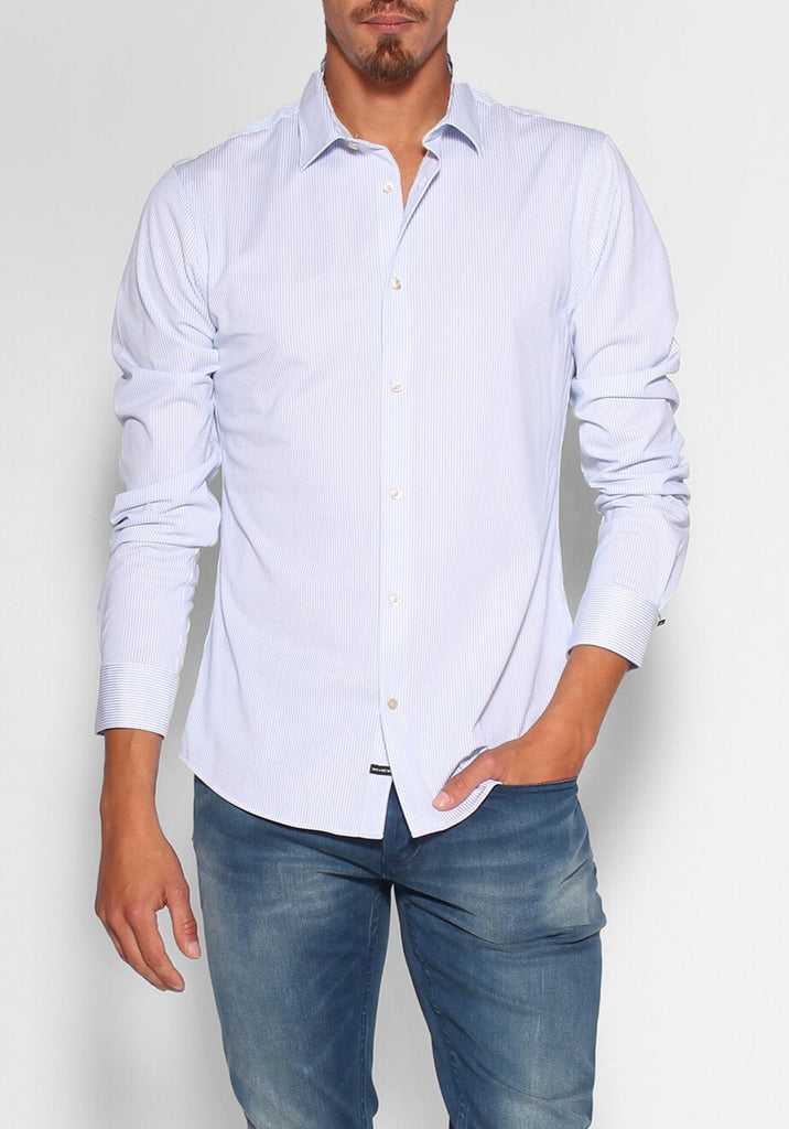 Scotch & Soda - Slim Fit Shirt - Blue/White