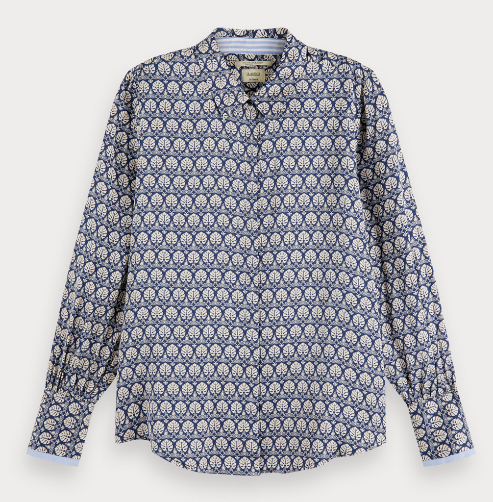 Maison Scotch - Regular Fit Viscose LS Shirt - Blue