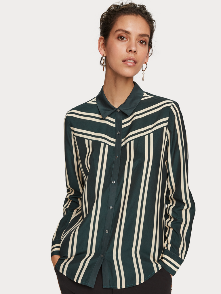 Maison Scotch - Drapey Fit Shirt - Emerald
