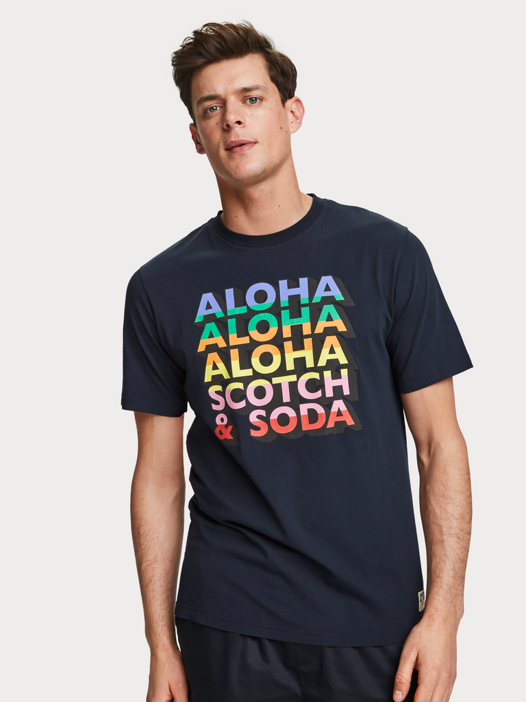 Scotch & Soda - Gradient Artwork Tee - Night
