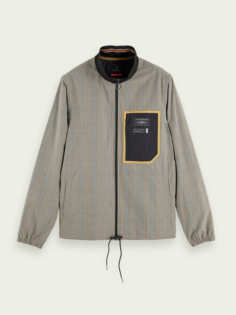 Scotch & Soda - Lightweight Jacket - Checked Clay