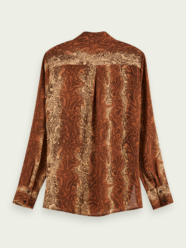 Maison Scotch - Printed Button Down Shirt - Caramel