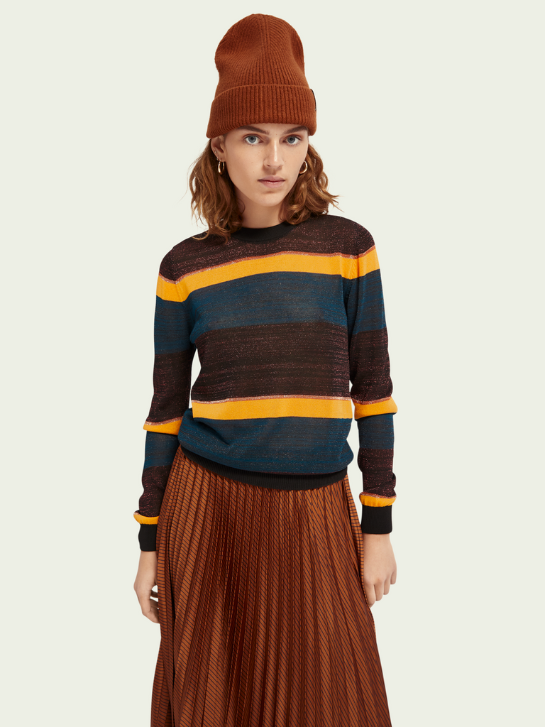 Maison Scotch - Lurex Pullover - Striped Metallic