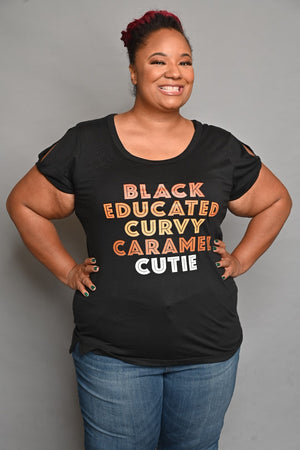 BLACK EDUCATED CURVY CARAMEL CUTIE