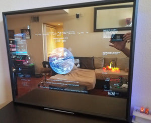 "Google Assistant Smart Mirror - 32"" HD Display in a 24""X 30""X 2.5"" Black Frame"