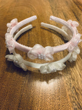 Load image into Gallery viewer, J12 - Three Flower Headband With Pearls