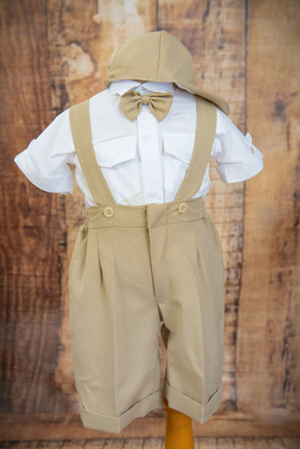 S1652 - 4 Piece Sand Suspender Suit