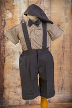 Load image into Gallery viewer, Limited Edition S1664 - 4 Piece Dark Brown Suspender Suit