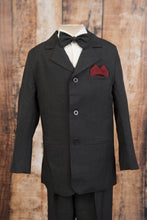Load image into Gallery viewer, 1245 - 5 Piece Charcoal Pinstripe Suit