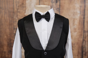 630 - 4 Piece Black Vest Suit