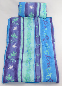 Flowers Blue & Green Snug Small