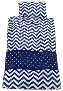 Chevron & Stars Navy Snug