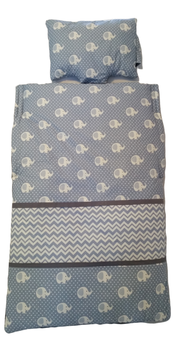 Elephants & Chevrons blue snug small