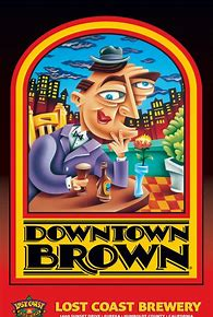 Lost Coast Cerveza Artesanal Downtown Brown 12 onz. Brown 5.0% Alc.By Vol.