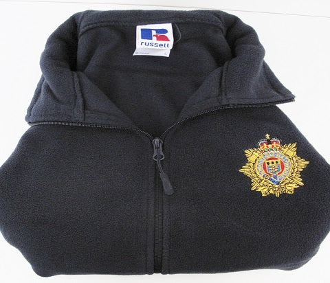 J2b Royal Army Service Corps Fleece illustrated with RLC Badge