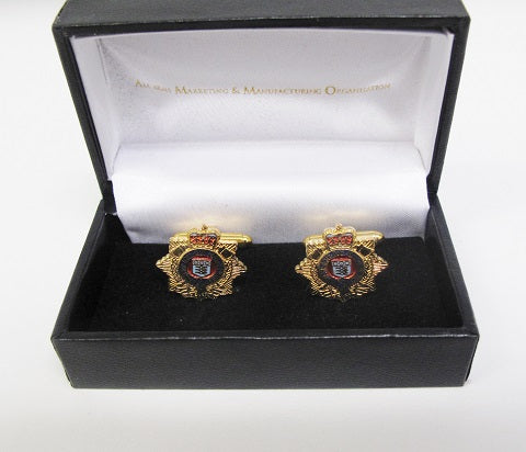 C10 - Royal Logistic Corps Gilt Cufflinks