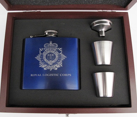 H8a - Metal Hip Flask Royal Logistic Corps