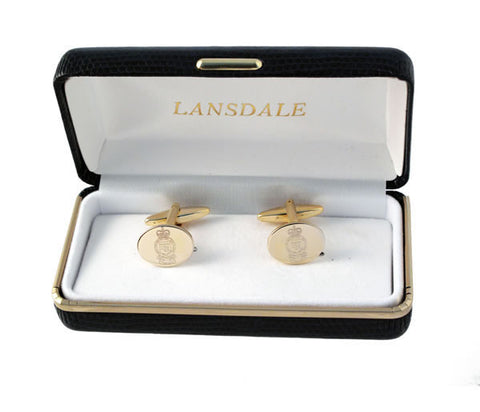 C81 - Royal Logistic Corps Oval Cufflinks