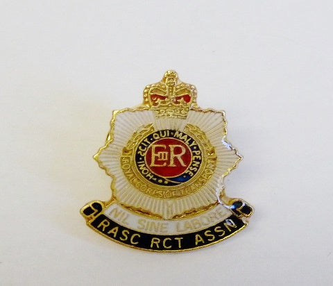L5 -RASC and RCT Association Lapel Badge