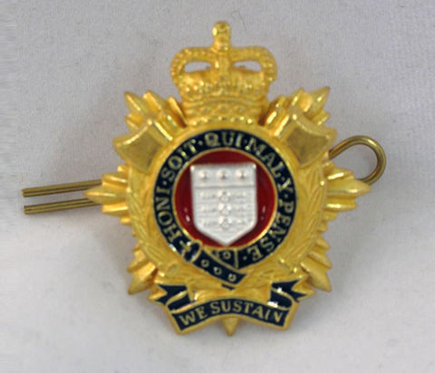 C27 - Officers Hat Badge RLC