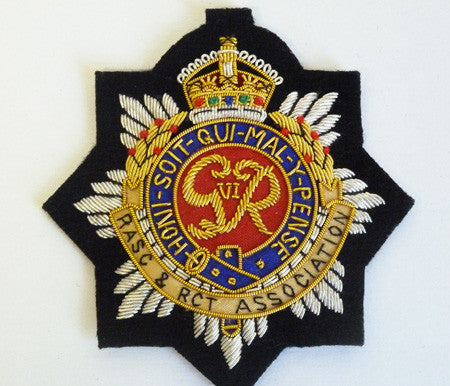 B1204 - RASC/RCT Association GVIR Blazer Badge