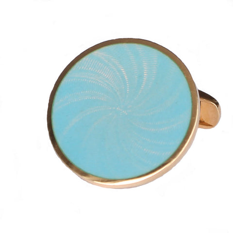 STAR SKY BLUE ENAMEL CUFFLINKS