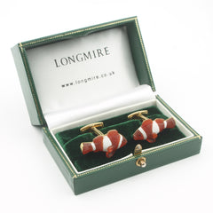 Clown fish cufflinks 18k yellow gold - boxed
