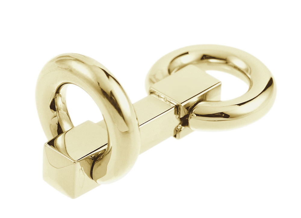 snaffle design 18k cufflinks in solid yellow gold