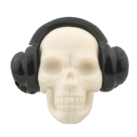 SKULL WITH HEADPHONES CUFFLINKS