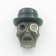 SKULL WITH MONOCLE CUFFLINKS