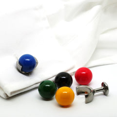 snooker ball cufflinks in cuff
