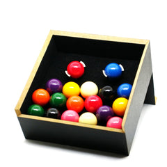 snooker ball cufflinks in box
