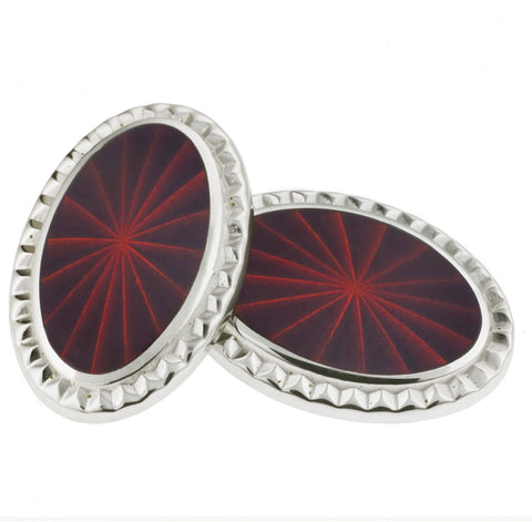 PRISM RED ENAMEL CUFFLINKS