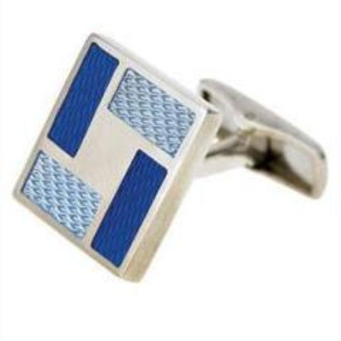 """PARQUET"" ENAMELLED CUFFLINKS"