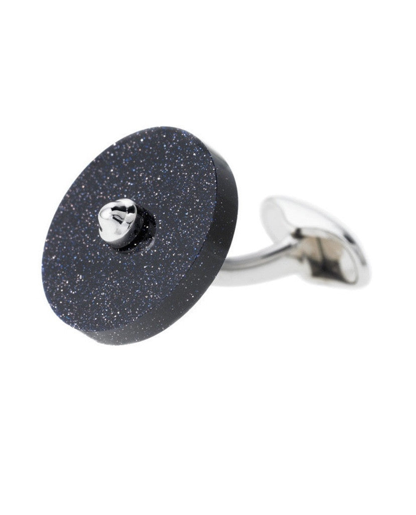 GOLDSTONE DISC CUFFLINKS