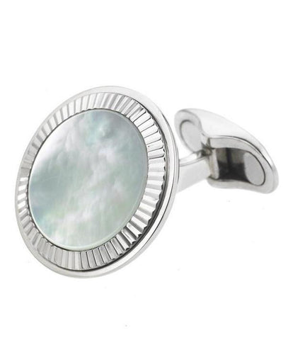 MOTHER OF PEARL FLUTED CUFFLINKS