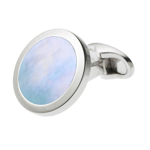 ICE BLUE MOTHER OF PEARL CUFFLINKS