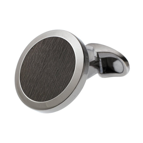 CARBON FIBRE CIRCLE CUFFLINKS