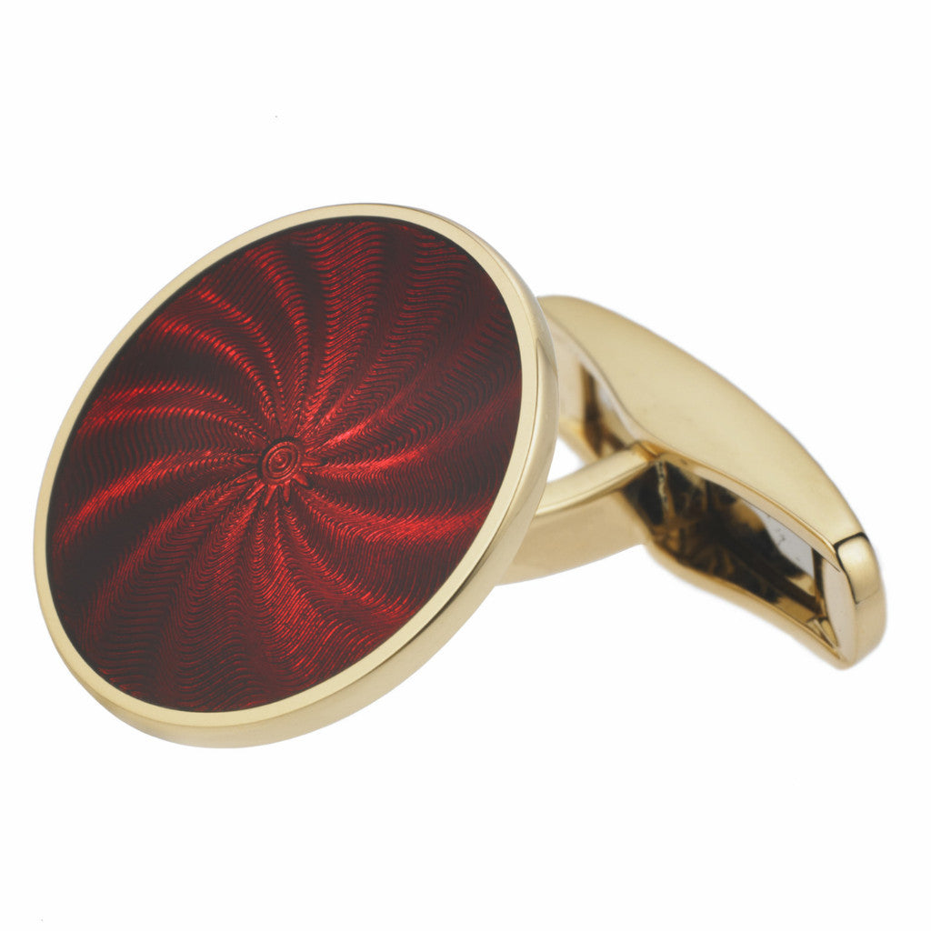STAR RED ENAMEL CUFFLINKS