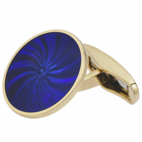 STAR BLUE ENAMEL CUFFLINKS