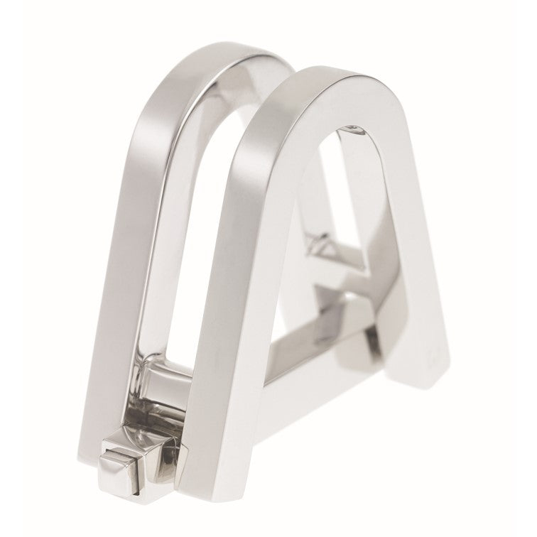 white gold stirrup cufflinks