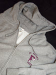 Full Zip Gray Sweatshirt on sale