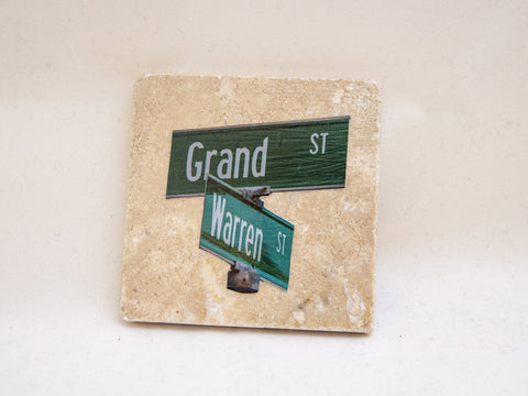 Grand & Warren Coaster